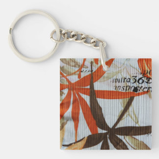 Vintage Floral Cloth Acrylic Keychains