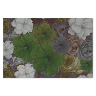 Vintage Floral Collage Tissue Paper