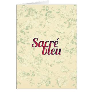 Vintage Floral Dark Cross Sacre Bleu French Funny Cards