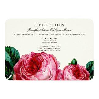 VINTAGE FLORAL DECOUPAGE WEDDING RECEPTION CARDS