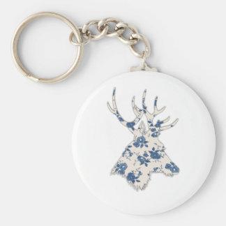 Vintage Floral Deer Head Key Chains