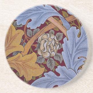 Vintage Floral Design Acanthus Leaves Drink Coasters