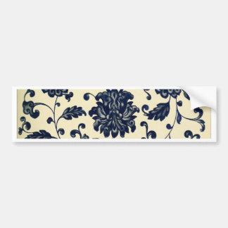 Vintage floral design bumper sticker