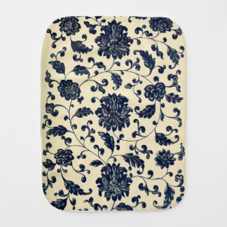 Vintage floral design burp cloth