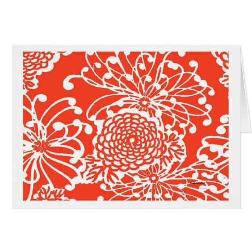 Vintage Floral Design Card
