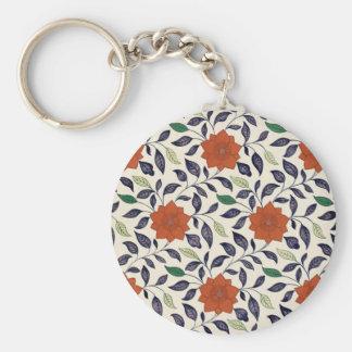 Vintage Floral Design Key Ring