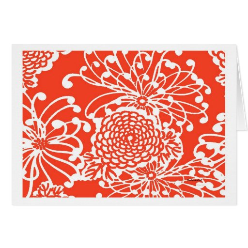Vintage Floral Design Note Card