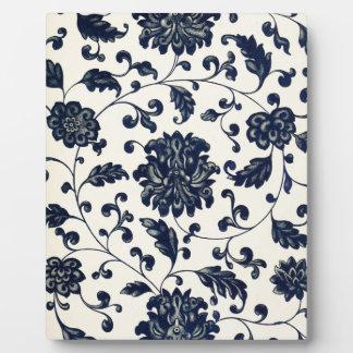 Vintage floral design plaque