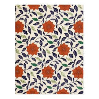 Vintage Floral Design Postcard