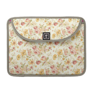 Vintage Floral Design Sleeve For MacBook Pro