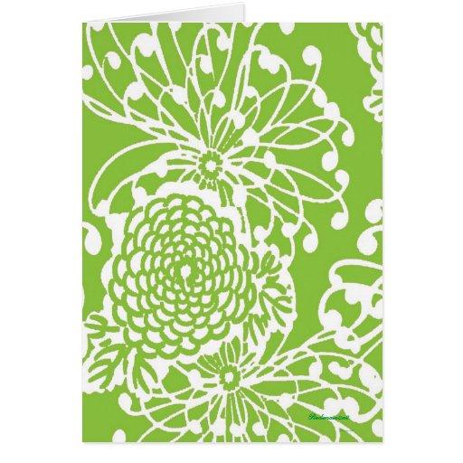 Vintage Floral Design Stationery Note Card