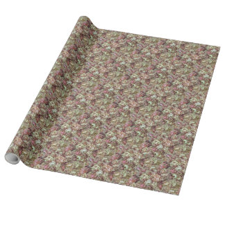 Vintage floral design with lots of roses wrapping paper