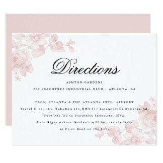 Vintage floral   Directions card