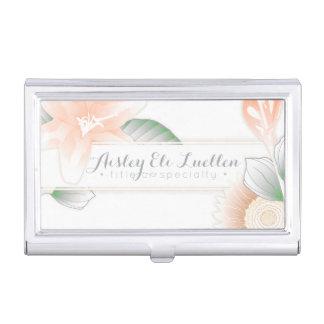 vintage floral elegance business card holder
