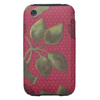 Vintage Floral Fabric (10) Tough iPhone 3 Case