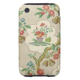 Vintage Floral Fabric (6) Tough iPhone 3 Case