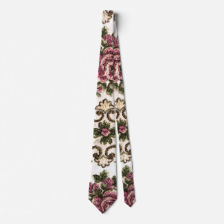 vintage floral fabric texture tie