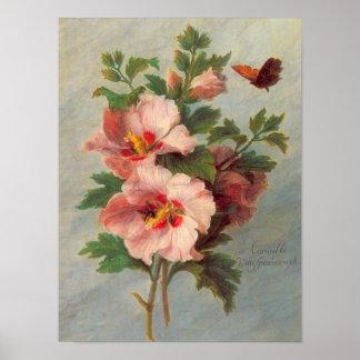 Vintage Floral Fine Art Poster