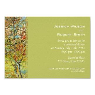 Vintage floral fine art rehearsal dinner 11 cm x 16 cm invitation card