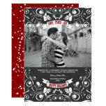 Vintage Floral Flourish Photo Holiday Greetings 13 Cm X 18 Cm Invitation Card