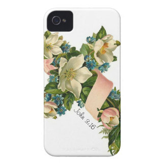 Vintage Floral Flower Cross illustration - iPhone iPhone 4 Case-Mate Cases