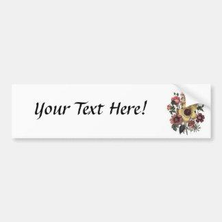Vintage Floral Flowers Bumper Sticker