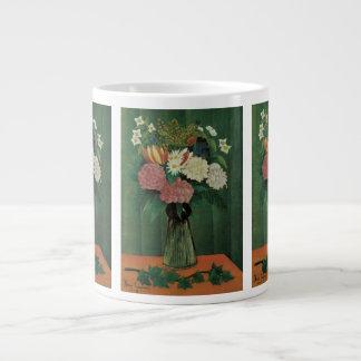 Vintage Floral, Flowers with Ivy by Henri Rousseau Jumbo Mug