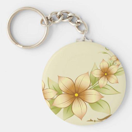 Vintage Floral Frame Keychain