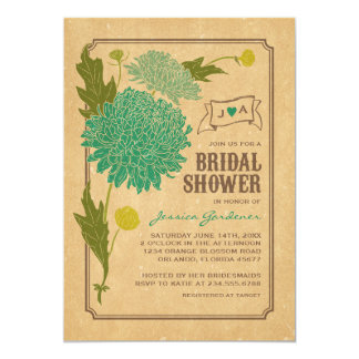 "VINTAGE FLORAL GARDEN PARTY BRIDAL SHOWER INVITE 5"" X 7"" INVITATION CARD"