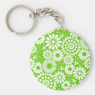 Vintage floral green Keychain