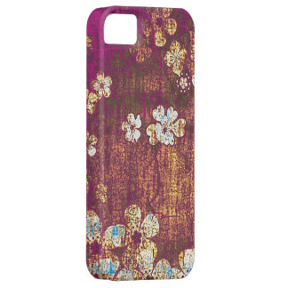 Vintage floral grunge background iPhone 5 covers
