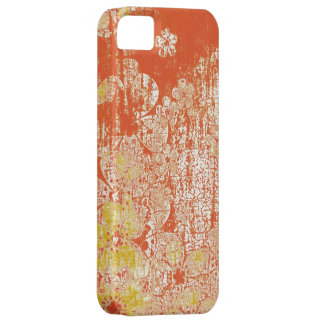 Vintage floral grunge wall background iPhone 5 cover
