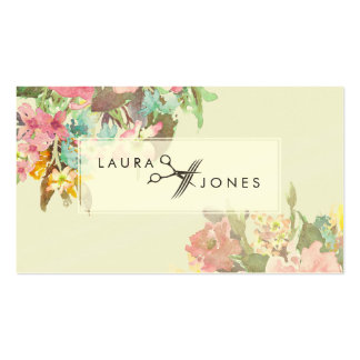 Vintage Floral Hair Stylist Appointment Cards Pack Of Standard Business Cards