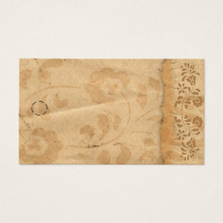 Vintage Floral Hang Tag Business Card