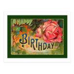 Vintage Floral Happy Birthday