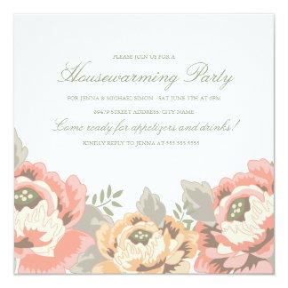 Vintage Floral Housewarming Party Invitation