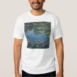 Vintage Floral Impressionism, Waterlilies by Monet T Shirts
