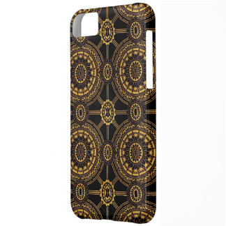 Vintage Floral in Gold and Black iPhone 5C Case
