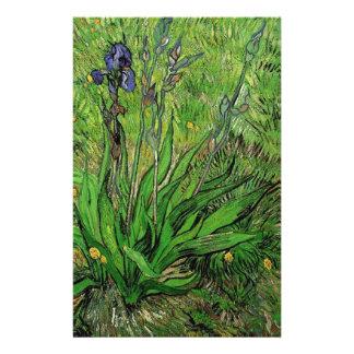 Vintage floral Iris by Vincent van Gogh 14 Cm X 21.5 Cm Flyer