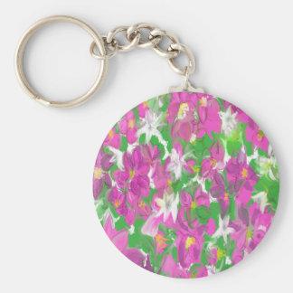Vintage Floral Key Chain