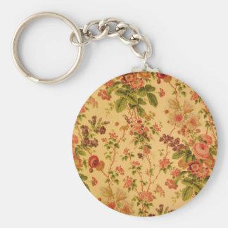 Vintage Floral Key Ring