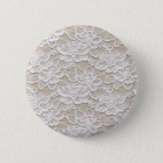 Vintage Floral Lace 6 Cm Round Badge