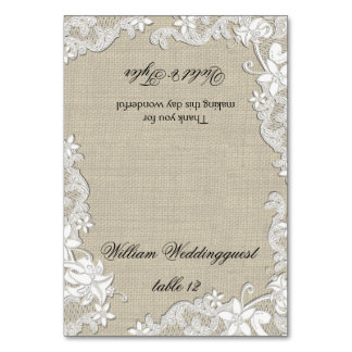 Vintage Floral Lace Design Seating Card Table Card
