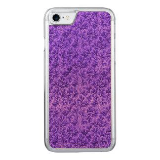 Vintage Floral Lace Leaf Amethyst Purple Carved iPhone 7 Case