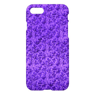 Vintage Floral Lace Leaf Amethyst Purple iPhone 7 Case