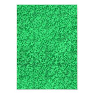 Vintage Floral Lace Leaf Mint Shamrock Green Magnetic Invitations