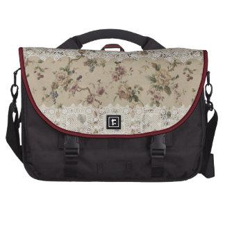Vintage Floral Lacy Lady Rickshaw Laptop Bag