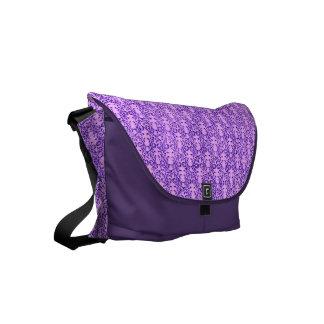 Vintage Floral Lavender Orchid Purple Courier Bag