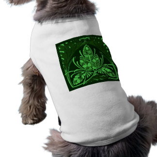 Vintage Floral Leaf Green Sleeveless Dog Shirt