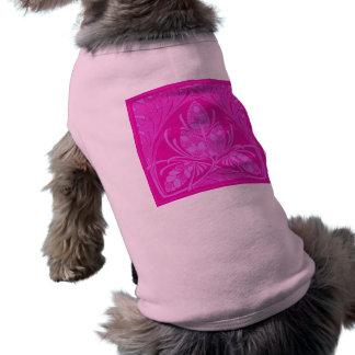 Vintage Floral Leaf Hot Pink Pet Clothing